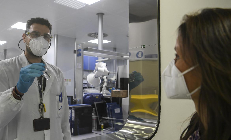 Il laboratorio della sede di Latina della Bsp Pharmaceuticals