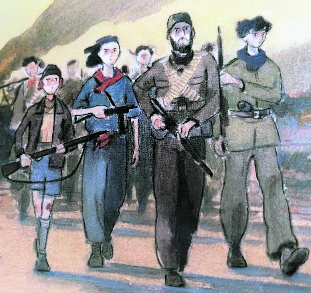 Illustrazione di Piero Macola (dal libro «Noi, ragazzi della libertà, i partigiani raccontano», a cura di Gad Lerner e Laura Gnocchi, per Feltrinelli)