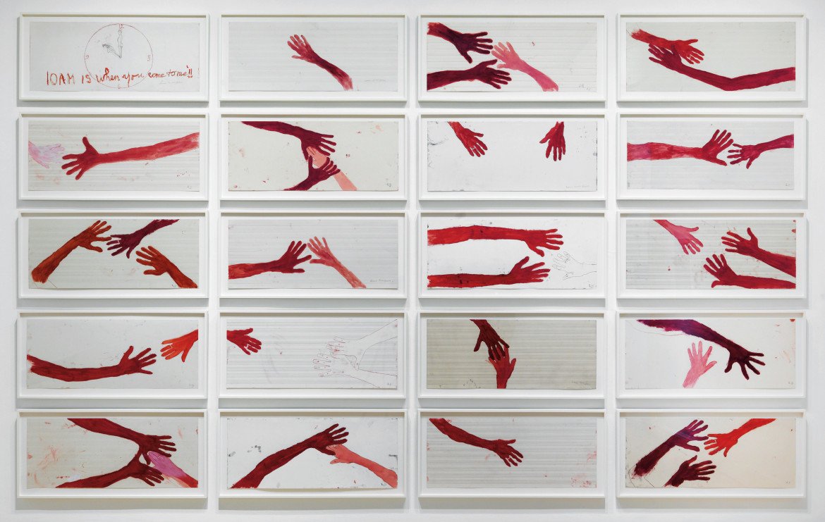Louise Bourgeois, «10 am is When You Come to Me», 2006; accanto, Lidia Curti