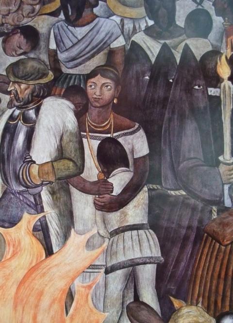 Diego Rivera, «La Malinche»  (da «Storia del Messico», particolare), 1929-1930, Palacio Nacional, Città del Messico