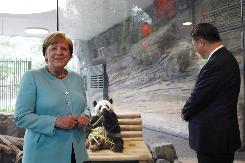 Merkel e Xi Jinping