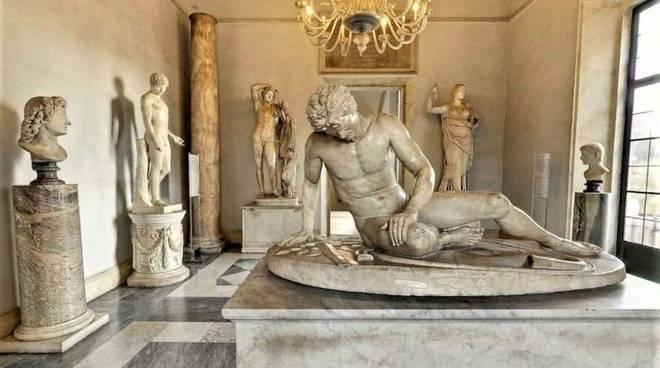 Una sala dei musei Capitolini