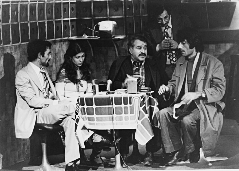 Una scena dell'allestimento del 1978 di «Bennesbeh Labokra...Chou?» di Ziad Rahbani