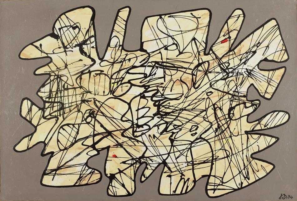 Jean Dubuffet, «Parachiffre», 1974