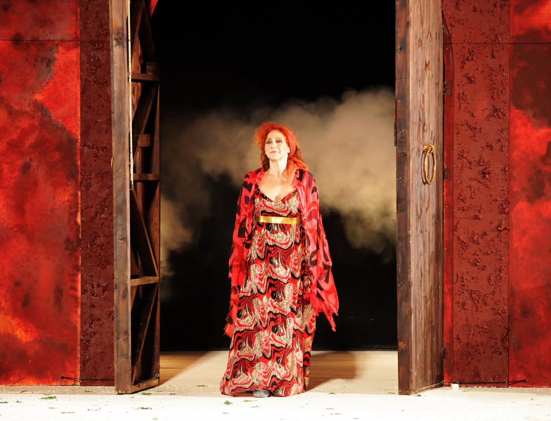 Elisabetta Pozzi  in Lisistrata,Teatro greco di Siracusa, INDA, 2019, foto Maria Pia Ballarino