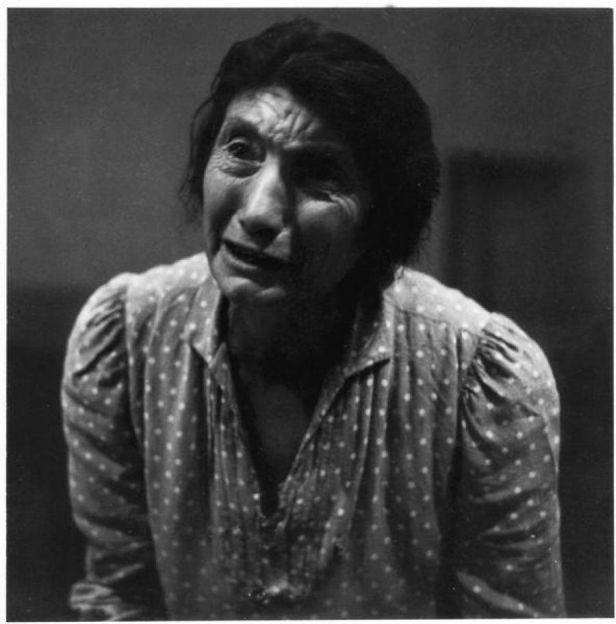 Franco Pinna, Lucania, Simulazione di un pianto, 1956