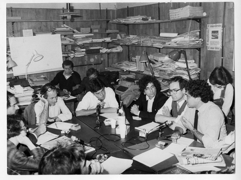 Forum in redazione con Claudio Martelli negli anni '80