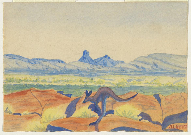 «Kangaroo» di Albert Namatjira (1936)
