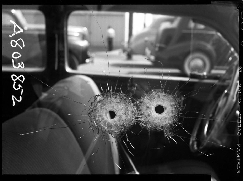 Una foto degli anni Quaranta ritrovata nell'archivio del Dipartimento di polizia di Los Angeles