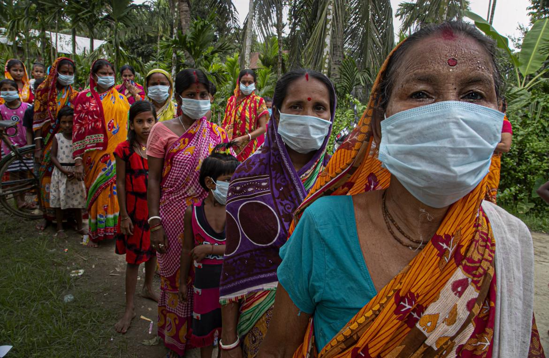 Donne indiane durante la pandemia di Covid-19