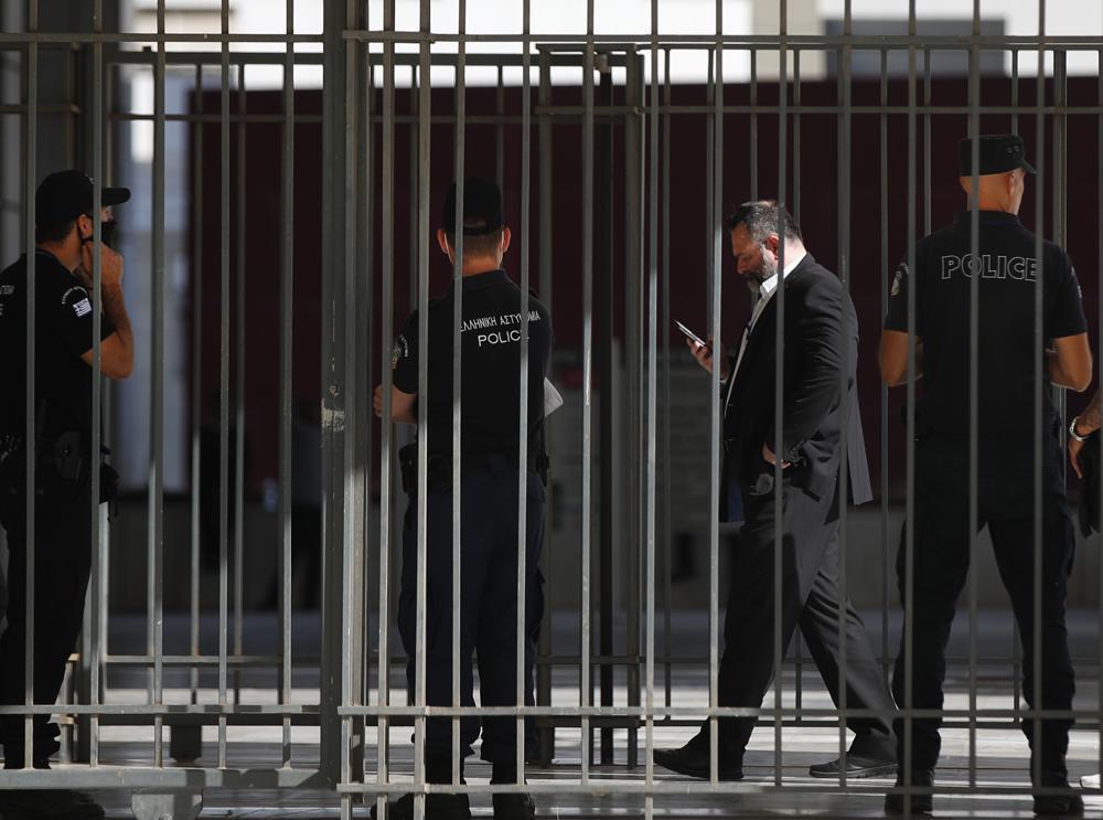 Ioannis Lagos durante un'udienza ad Atene