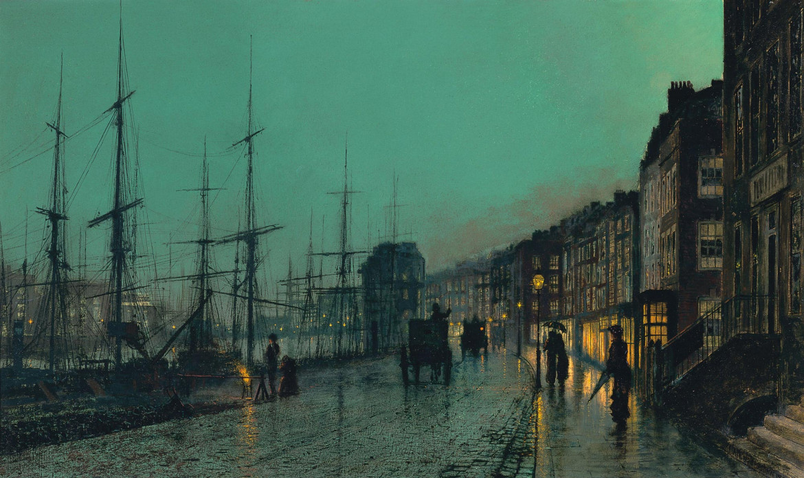 John Atkinson Grimshaw, «Shipping on the Clyde», 1881