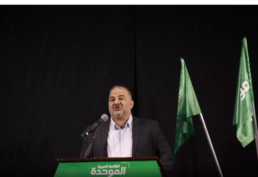 Mansour Abbas giovedì sera a Nazareth