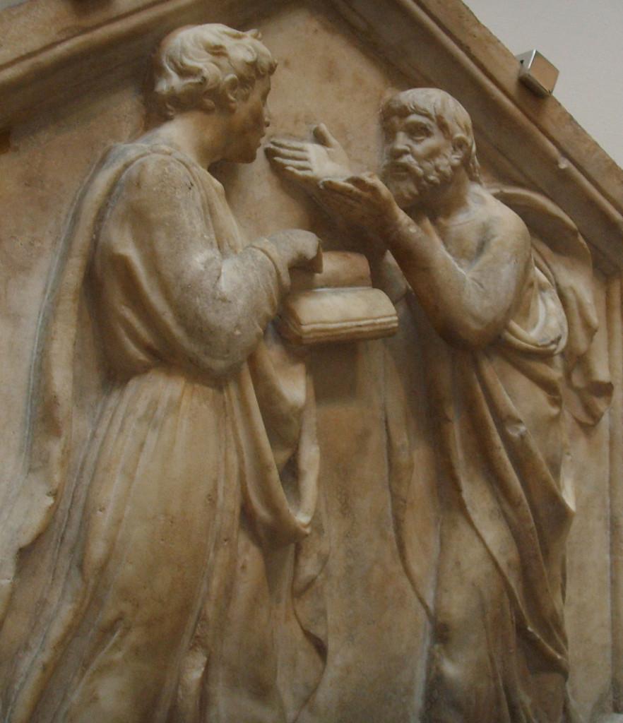 Platone e Aristotele o la filosofia, di Luca della Robbia