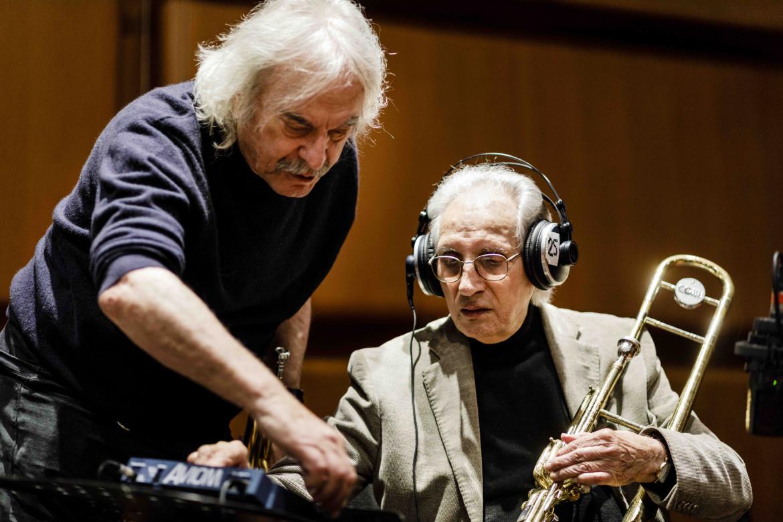 Enrico Rava (a sinistra) e Dino Piana