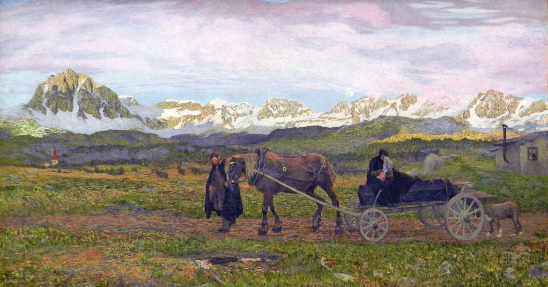 Giovanni Segantini, «Ritorno al paese natio» (1895), Staatliche Museen, Berlino