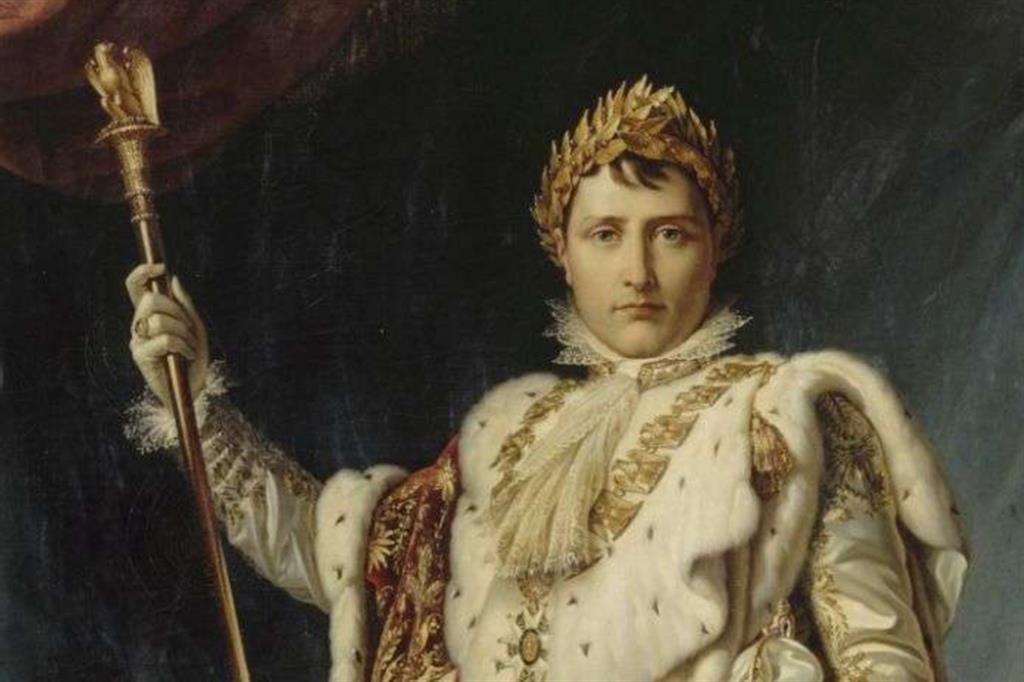 François Gérard, «Napoleone I imperatore» (particolare), 1805
