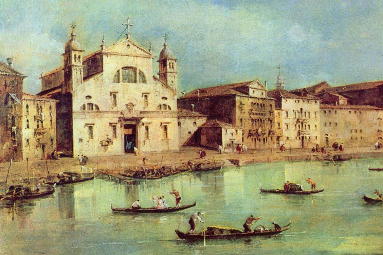 Francesco Guardi, «Canal Grande, santa Lucia e gli Scalzi»