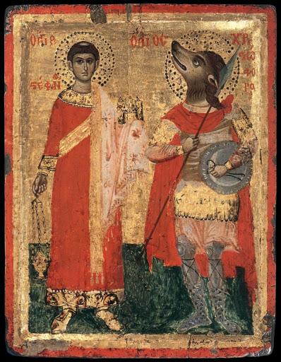 Una icona raffigurante San Cristoforo