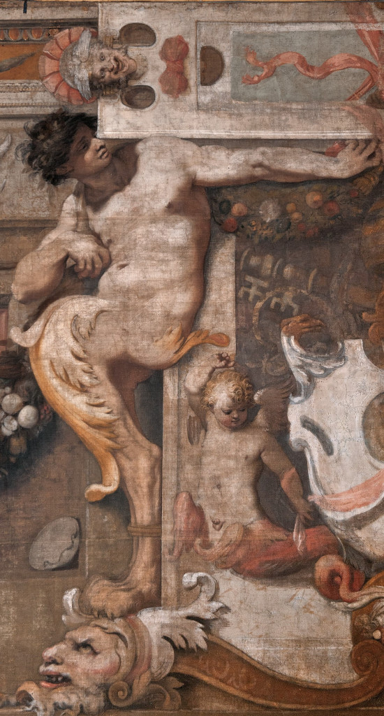 Perin del Vaga e Anonimo del Cinquecento, Modello della spalliera del Giudizio universale di Michelangelo, part., 1542, Roma, Galleria Spada