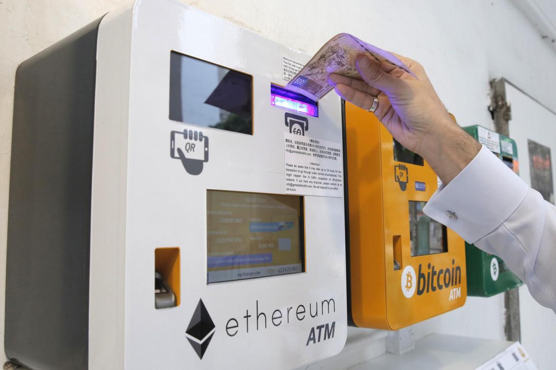 Un bancomat di criptovalute a Hong Kong