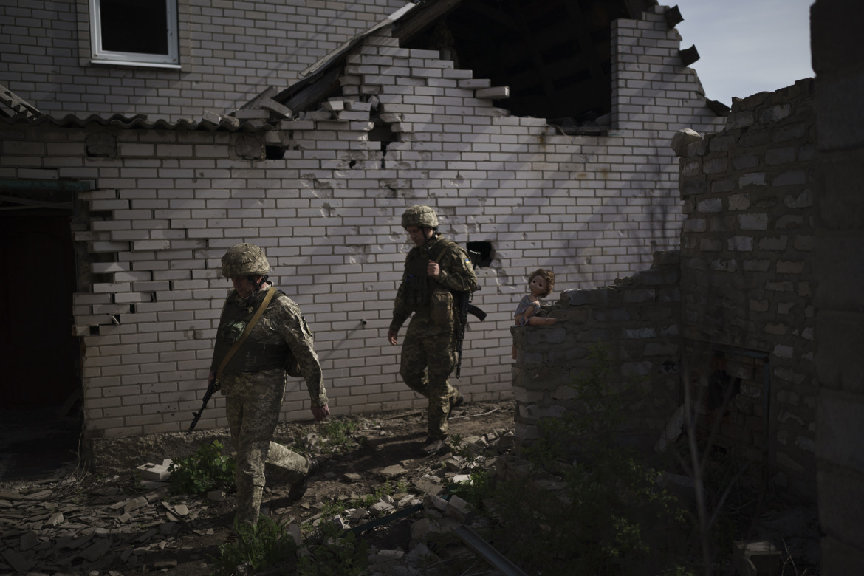 Soldati ucraini nei pressi di Donetsk