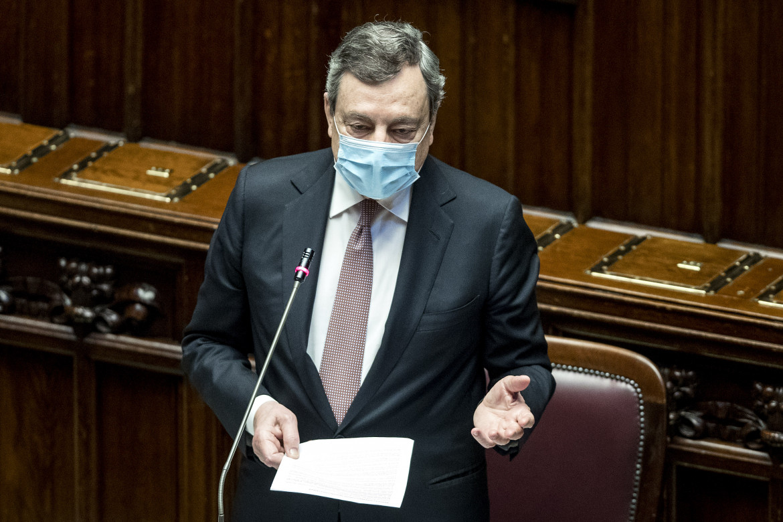 Mario Draghi risponde al question time alla camera