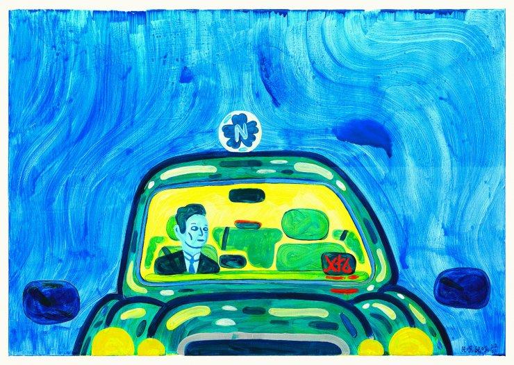 «Taxi mini» dell'artista danese Mormor