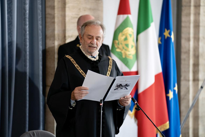 Il presidente della Corte costituzionale Giancarlo Coraggio
