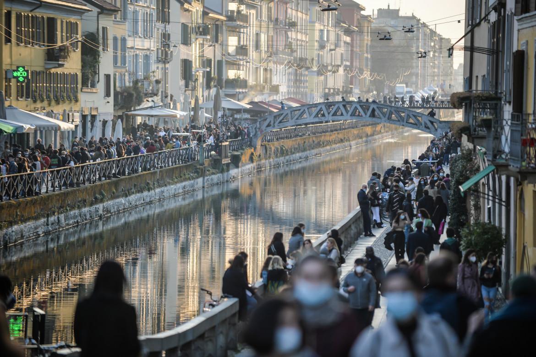 Folla a Milano