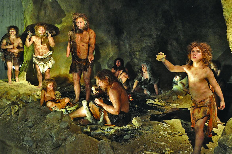 Diorama al museo dei Neanderthal in Croazia