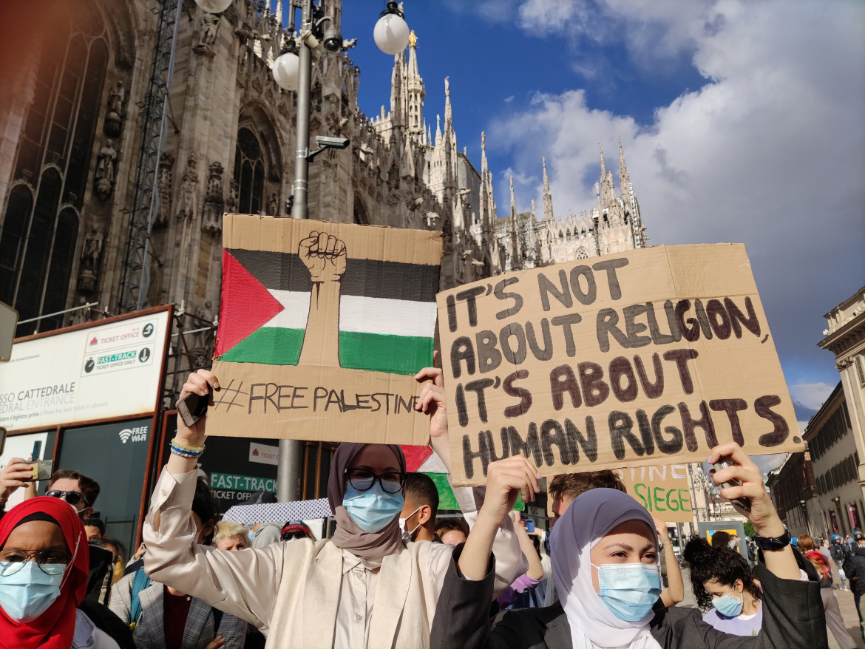 La manifestazione di giovedì a Milano