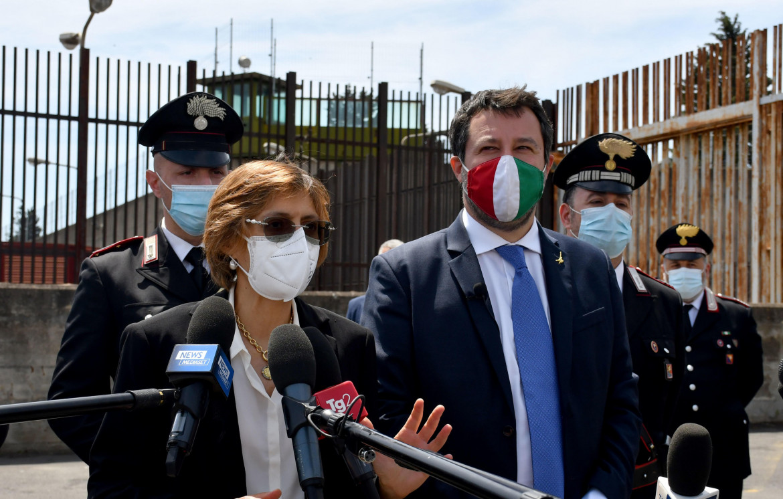 Matteo Salvini dopo l'udienza del caso Gregoretti