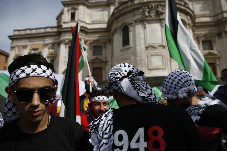 Roma, manifestazione in solidarietà con il popolo palestinese