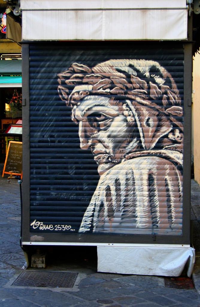 Dante, in un'edicola fiorentina (licenza wikicommons)