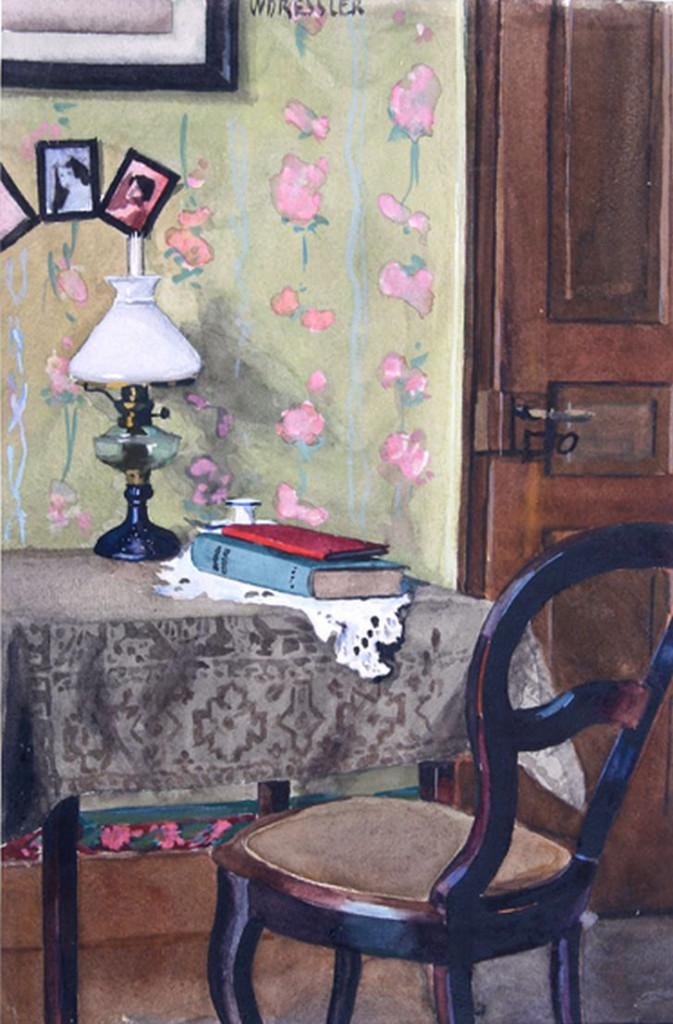 August Wilhelm Dressler,  «Nel mio studio», 1920 ca.