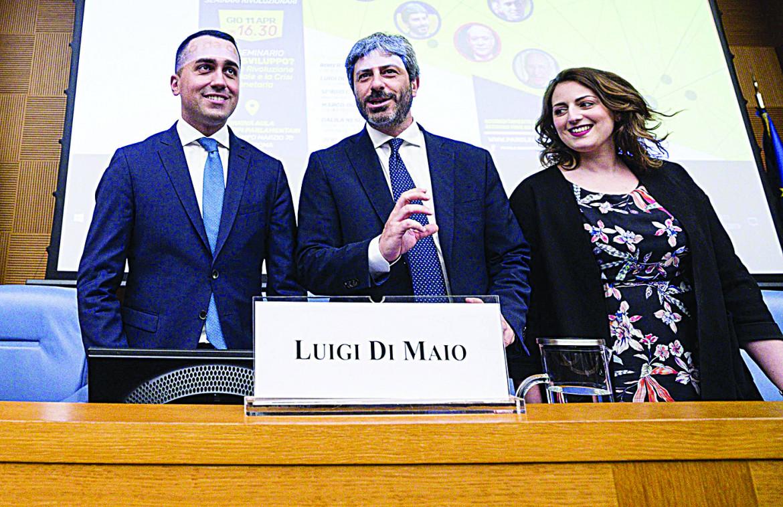 Luigi Di Maio, Roberto Fico e Dalila Nesci