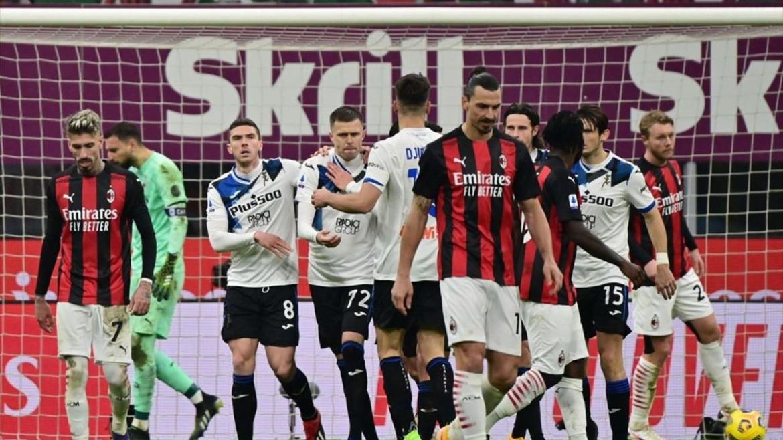 Un momento del match di andata Milan Atalanta 0-3