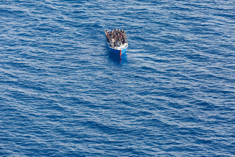 Barchino di migranti