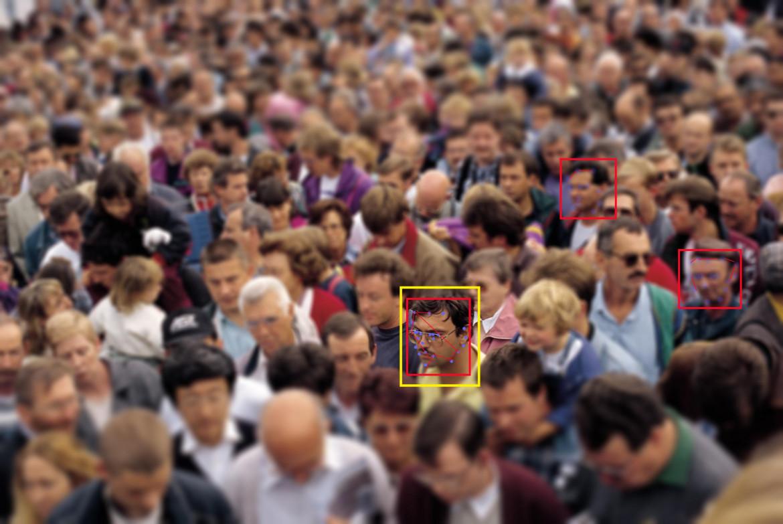 Sistema di riconoscimento facciale.