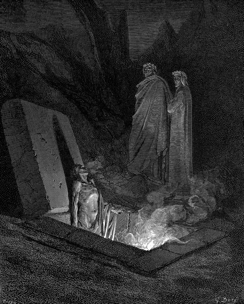Illustrazione di Gustave Doré per l'episodio di Farinata degli Uberti nel Canto X dell'Inferno