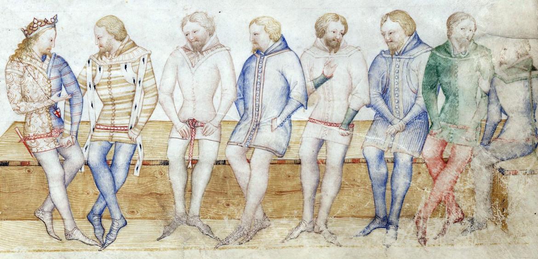 Miniatura da un codice  di Guiron le Courtois, 1370-1380, f. 51, Parigi, Biblioteca Nazionale