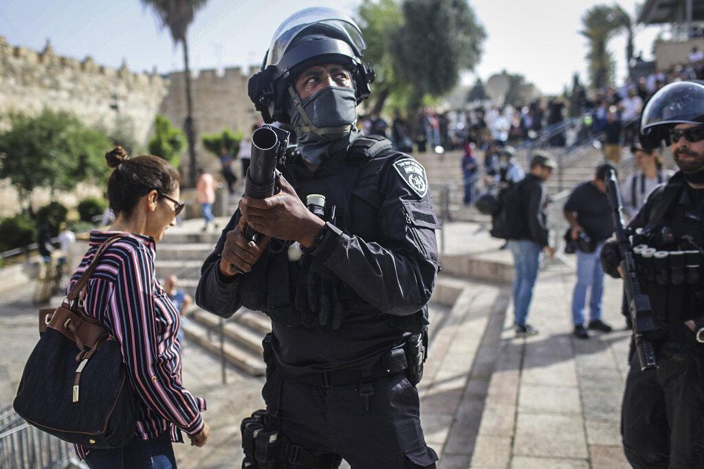 Forze israeliane a Gerusalemme