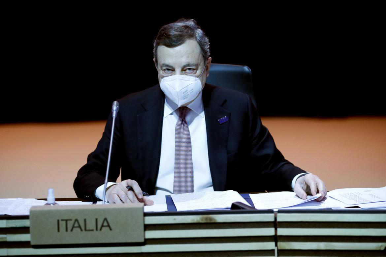 La conferenza stampa di Mario Draghi al summit di Porto