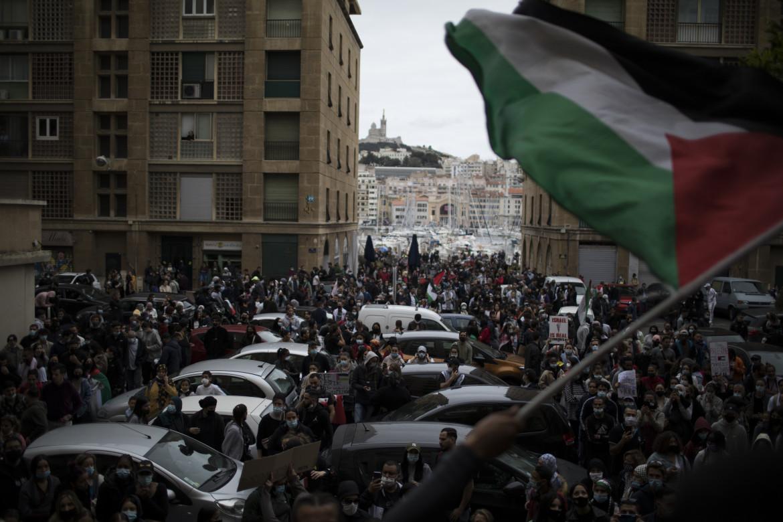 Protesta pro Palestina in Francia
