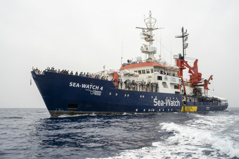 La Sea-Watch 4 durante l'ultima missione