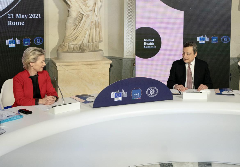 Von der Leyen e Draghi al G20 di Roma