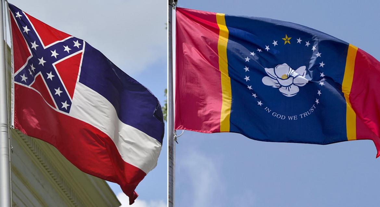 A destra la nuova bandiera