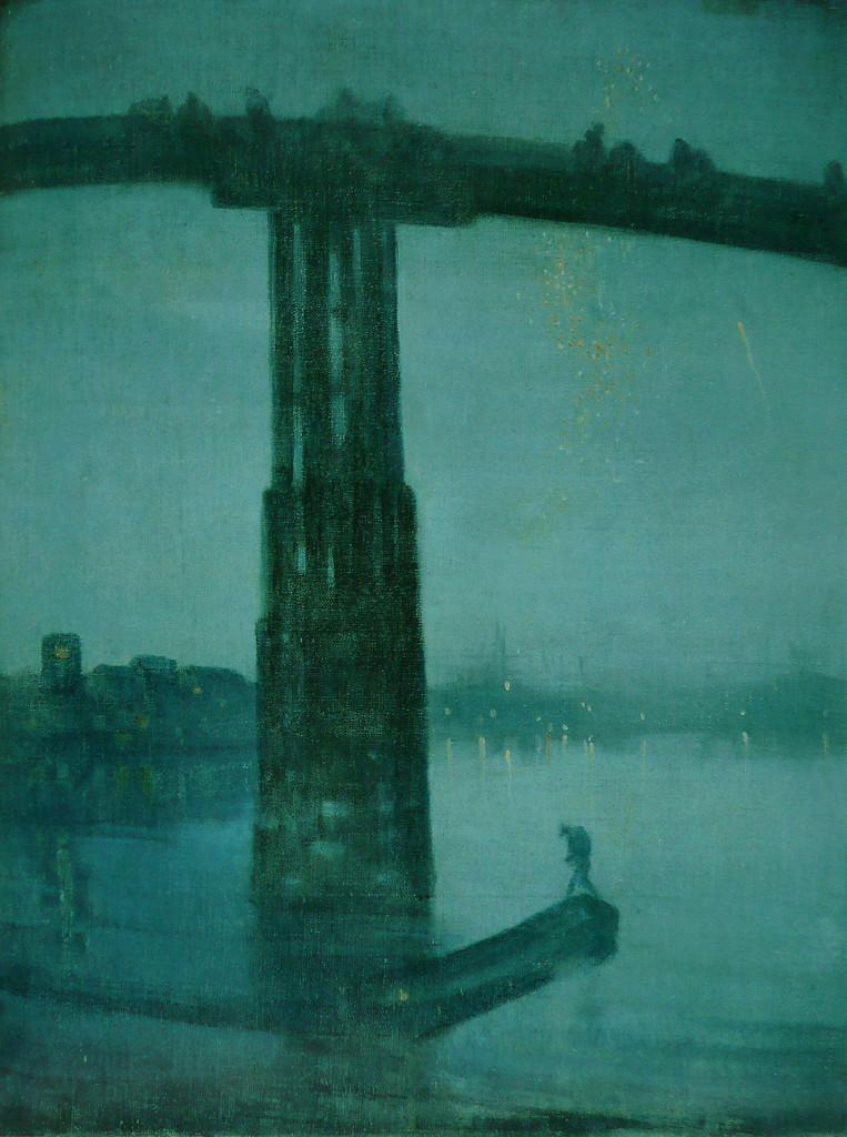 J. A. McNeill Whistler, «Notturno in blu  e oro, Old Battersea Bridge», 1872-1875