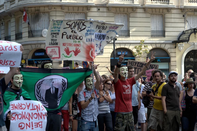 Madrid, Puerta del Sol, uno scatto del 24 luglio 2011